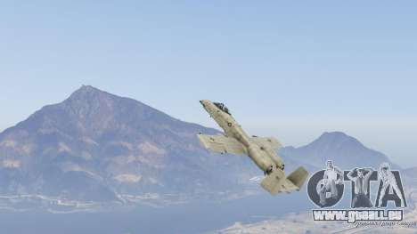 GTA 5 A-10A Thunderbolt II 1.1 neuvième capture d'écran