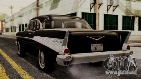 Chevrolet Bel Air Sport Coupe (2454) 1957 IVF für GTA San Andreas linke Ansicht