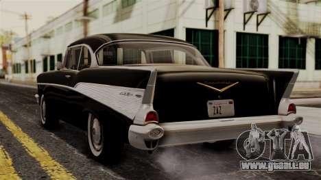 Chevrolet Bel Air Sport Coupe (2454) 1957 IVF pour GTA San Andreas laissé vue