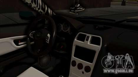 Subaru Impreza WRX STI HQ pour GTA San Andreas vue de droite