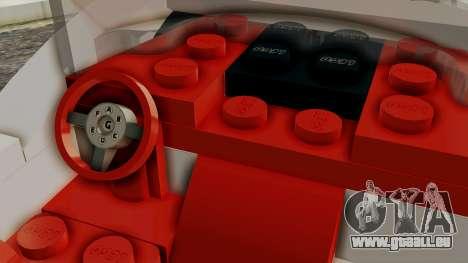 Lego Mach 5 pour GTA San Andreas vue de droite
