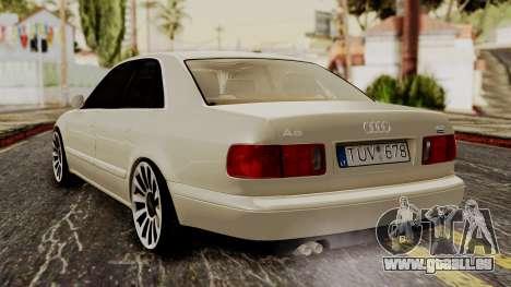 Audi A8 D2 pour GTA San Andreas laissé vue