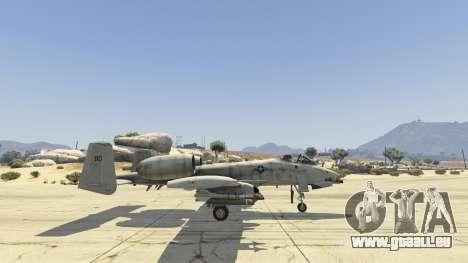 GTA 5 A-10A Thunderbolt II 1.1 cinquième capture d'écran