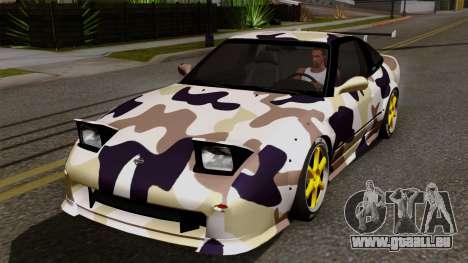 Nissan 180SX Street Golden Rims für GTA San Andreas Innen