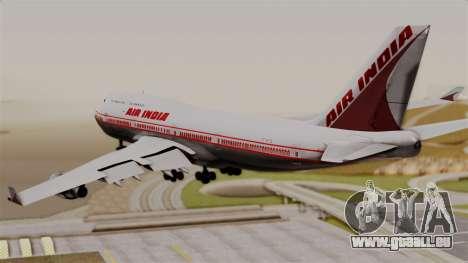 Boeing 747-400 Air India Old für GTA San Andreas linke Ansicht