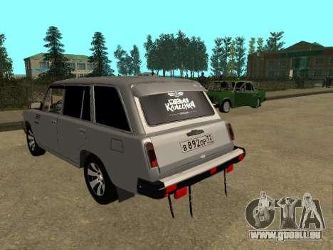 VAZ 2102 für GTA San Andreas zurück linke Ansicht