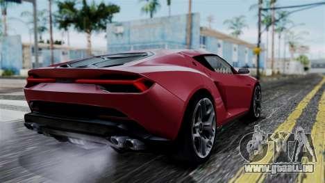 Lamborghini Asterion 2015 Concept pour GTA San Andreas laissé vue