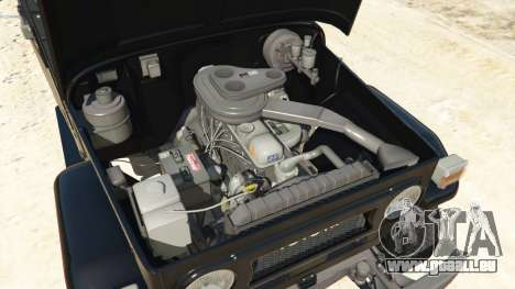 GTA 5 Toyota Land Cruiser (J40) 1978 [Beta 3b] arrière droit vue de côté