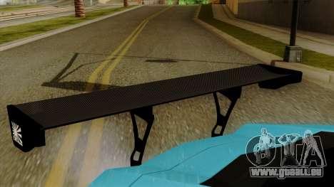 Lamborghini Aventador LB Performance pour GTA San Andreas vue arrière