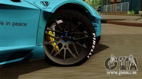 Lamborghini Aventador LB Performance pour GTA San Andreas sur la vue arrière gauche