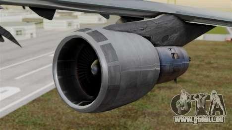 Boeing 747 Singapore Cargo pour GTA San Andreas vue de droite