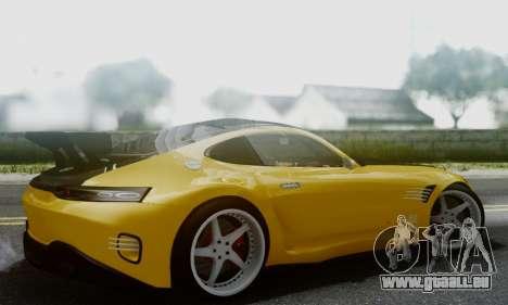 Mercedes-Benz AMG GT pour GTA San Andreas sur la vue arrière gauche