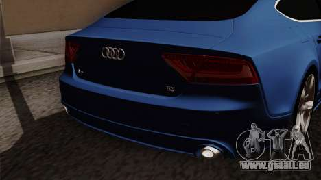 Audi A7 Sportback 2009 für GTA San Andreas Rückansicht