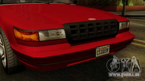 GTA 5 Vapid Stanier I IVF pour GTA San Andreas vue arrière