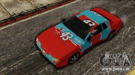 Elegy Dukes Of Mavens pour GTA San Andreas sur la vue arrière gauche