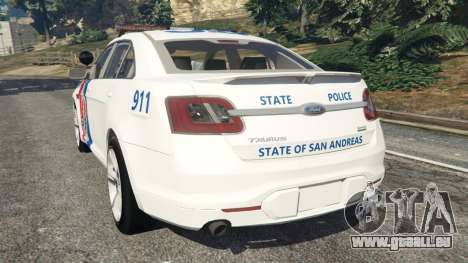 GTA 5 Ford Taurus State Troopers San Andreas arrière vue latérale gauche