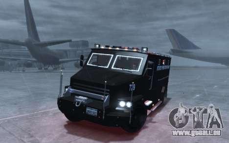 International 4000-Series SWAT Van pour GTA 4 Vue arrière