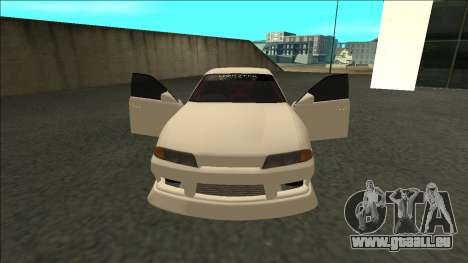 Nissan Skyline R32 Sedan Monster Energy Drift für GTA San Andreas rechten Ansicht