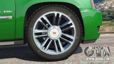 GTA 5 Cadillac Escalade ESV 2012 hinten rechts