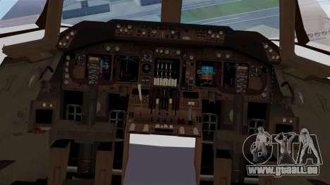 Boeing 747 British Airlines (Landor) pour GTA San Andreas vue intérieure