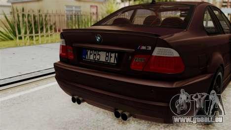 BMW M3 E46 2005 Stock pour GTA San Andreas vue arrière