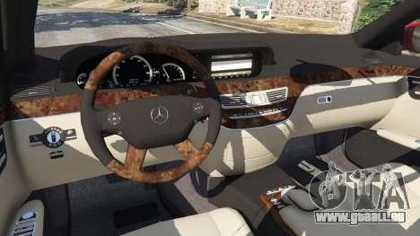 GTA 5 Mercedes-Benz S550 W221 v0.4.1 [Alpha] volant