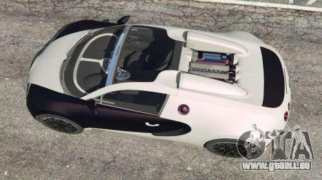 GTA 5 Bugatti Veyron Grand Sport v4.0 vue arrière