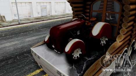 Scania Showtrailer Cabane pour GTA San Andreas sur la vue arrière gauche