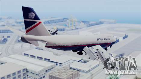 Boeing 747 British Airlines (Landor) pour GTA San Andreas laissé vue