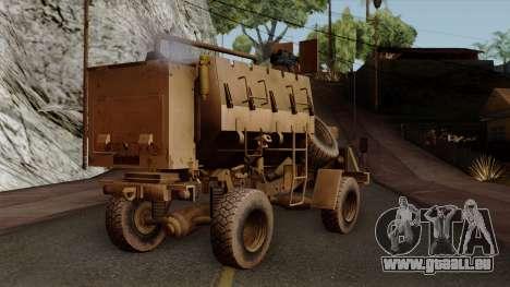 MRAP Buffel from CoD Black Ops 2 pour GTA San Andreas laissé vue