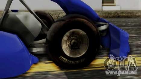 Crash Team Racing Kart pour GTA San Andreas sur la vue arrière gauche