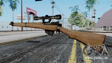 Lee-Enfield No.4 Scope from Battlefield 1942 pour GTA San Andreas deuxième écran