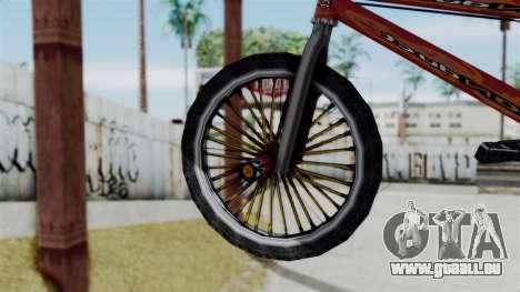 Bike from Bully für GTA San Andreas zurück linke Ansicht
