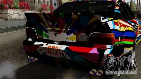BMW M3 E36 79 pour GTA San Andreas vue arrière