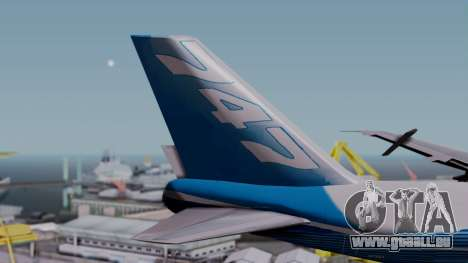 Boeing 747-400 Dreamliner Livery pour GTA San Andreas sur la vue arrière gauche