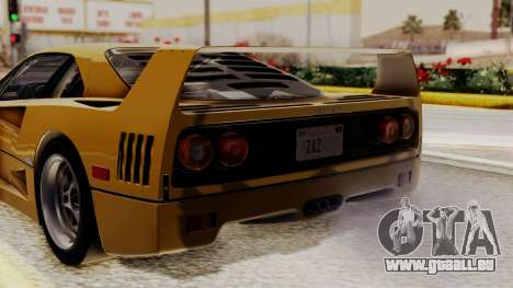 Ferrari F40 1987 HQLM pour GTA San Andreas vue arrière