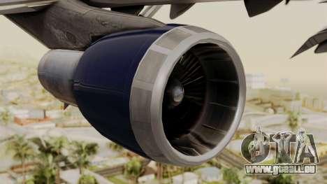Boeing 747 United Airlines für GTA San Andreas rechten Ansicht