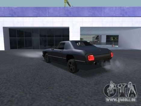 New Stallion pour GTA San Andreas vue de dessous