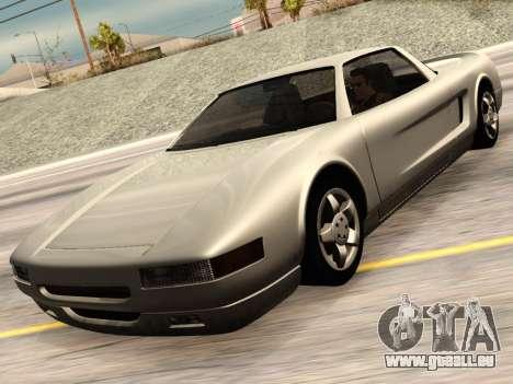 Infernus PFR v1.0 final pour GTA San Andreas vue arrière