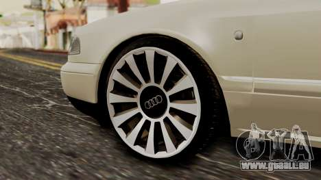 Audi A8 D2 pour GTA San Andreas sur la vue arrière gauche
