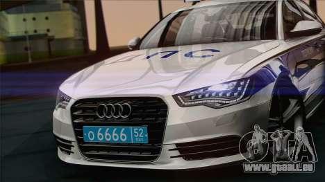 Audi A6 DPS pour GTA San Andreas sur la vue arrière gauche