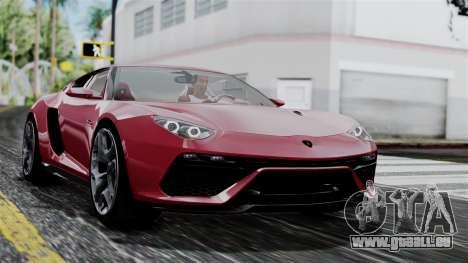 Lamborghini Asterion 2015 Concept pour GTA San Andreas