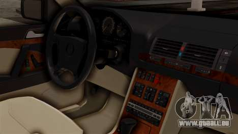Mercedes-Benz W140 500SE 1992 pour GTA San Andreas vue de droite