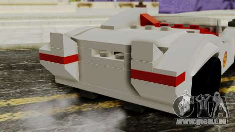 Lego Mach 5 für GTA San Andreas Rückansicht