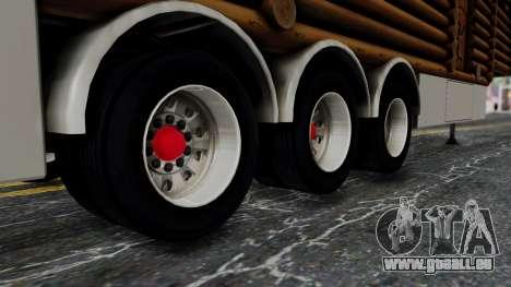 Scania Showtrailer Cabane pour GTA San Andreas vue de droite
