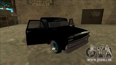 Chevrolet C10 Drift Monster Energy pour GTA San Andreas vue de côté