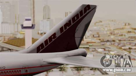 Boeing 747-400 Air India Old pour GTA San Andreas sur la vue arrière gauche