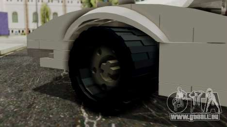 Lego Mach 5 pour GTA San Andreas sur la vue arrière gauche