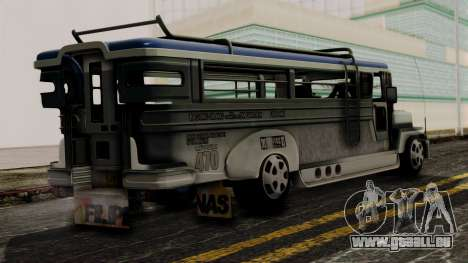 Milwaukee Motors Custom Jeepney für GTA San Andreas linke Ansicht