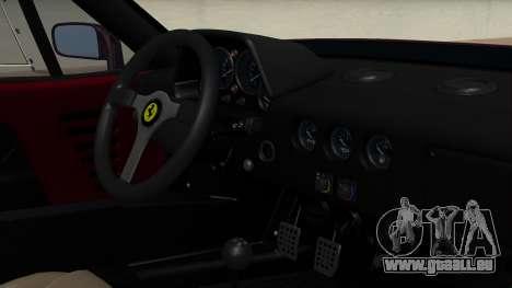 Ferrari F40 1987 without Up Lights IVF pour GTA San Andreas vue de droite